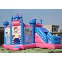 Quality Outdoor Large Inflatable Combo Princess Jumping Castle With Slide Rental for sale
