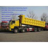 Wholesale High Loading Capacity Sinotruk Howo Dump Truck 371 HP 12 Wheels 50 Ton LHD from china suppliers