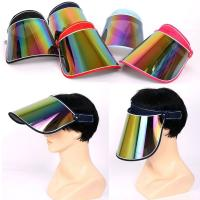 Wholesale Unisex Sun Visor Hat Golf UV Protection Outdoor Stretch Poker 80's Rave Headband from china suppliers