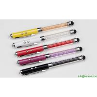 China fancy laser pen with touch tip,laser ball pen with led touch tip on sale
