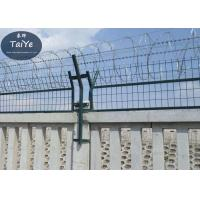 China Military Field Silver Razor Blade Wire Fence 450mm 500mm Outside Diameter on sale