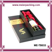 Wholesale Custom Printed Promotional Paper Cardboard Wine Box/paper cardboard wine box/Stamping wine box ME-TB033 from china suppliers