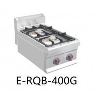 China E-RQB-400G Commercial Restaurant Kitchen Equipment Countertop Double Burner Gas Range Stove on sale