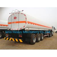 Wholesale HOWO A7 Oil Tank Trailer Diesel 28 Cubic Meters , Two Single Low Bed Trailer from china suppliers