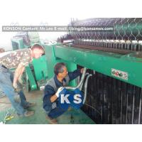 Double Twist Gabion Machine , Heavy Duty Hexagonal Wire Mesh Gabion Boxes Machine