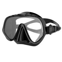 Wholesale Black Tempered Glass Unisex Free Diving Mask with Silicone Strap and Skirt from china suppliers