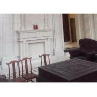 Wholesale Indoor Natural Stone Fireplaces , Suny White Marble Electric Fireplace from china suppliers
