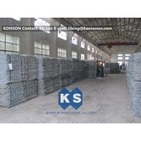 Wholesale PVC Coated Gabion Basket Filled With Stone , Electro Galvanized Gabion Box from china suppliers