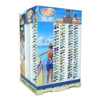 Wholesale Custom Sunglasses Cardboard Pallet Display stand for summer promotion from china suppliers