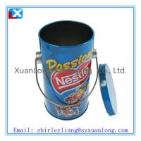Wholesale fashion with printed round cookies tin box wholesale from china suppliers
