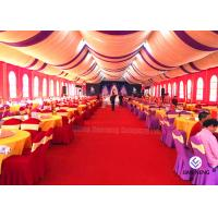China Red Aluminum Truss Roof Systems , Beautiful Dj Lighting Truss Systems Tent With Air Condition for sale