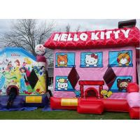 Wholesale Pink Hello Kitty Inflatable Bouncer , Blow Up Kids Bouncy Castle For Backyard Fun from china suppliers