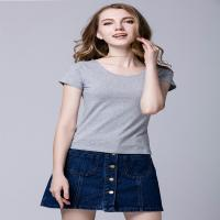 Wholesale Casual Cool Ladies Short Sleeve Shirts S - XL Customized Size Sweat Absorption from china suppliers