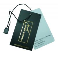 Wholesale OEM Clothing Hang Tags With Customized Logos For Garment / Bags Label from china suppliers