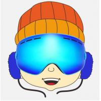 Wholesale Customized Anti Scratch Blue Kids Snowboarding Goggles for Boys and Girls from china suppliers