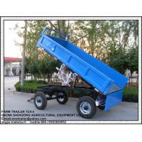 China 7CX-5T 5T Hydraulic 4 wheel farm trailer with best price for sale
