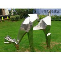Buy cheap Life Size Animal Deer Stainless Steel Sculpture For Garden Decoration from wholesalers