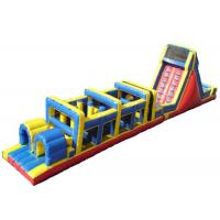 Wholesale Floating Inflatable Obstacle Course / Adult Blow Up Water Obstacle Course from china suppliers