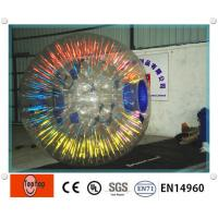 China Popular Glowing inflatable zorbing ball equipment / human hamster ball with OEM Logo on sale