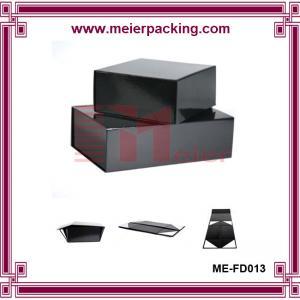 Wholesale Custom flat pack paper black box, handmake folding paper box with matt lamination ME-FD013 from china suppliers