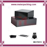 Wholesale Custom flat pack paper black box, handmake folding paper box with matt lamination ME-FD013 from china suppliers