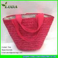 Wholesale LUDA wholesale name brand purses small handbags pink wheat straw bags from china suppliers