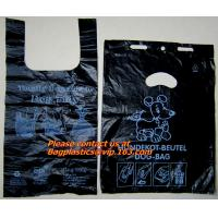 Wholesale Top quality discount pet cat packaging gusset t shirt bag, poop dog bags, cat bags, waste from china suppliers