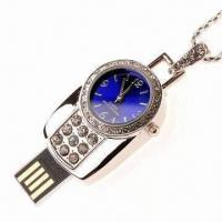 Wholesale Crystal USB Flash Drive Disk with Watch Function, Easy-to-read and Read in High Speed from china suppliers