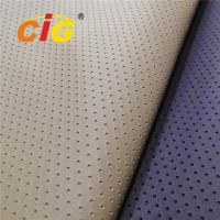 Buy cheap Fake Holes Pvc Leather Fabrics for Car Seat Cover High Tear Fastness from wholesalers