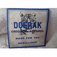 China High Density 3D Organic Canvas Screen Printing Label For Children'S Garments for sale