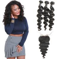 Wholesale Heathly Indian Human Hair Bundles Loose Wave , 100 Indian Human Hair Weave from china suppliers