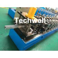 Wholesale 0-15m/min Cold Roll Forming Machine For Making Door Frame Guide , Shutter Door Slats Guide Rail from china suppliers