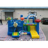 Sealife Inflatable Combo Bouncy Castle With Slide For Kids Inflatable Playground for sale