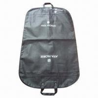 Buy cheap Black Nonwoven Suit Cover/Bag with PP Webbing Handle from wholesalers