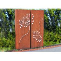 Wholesale Corten Steel Metal Wall Sculpture For Indoor Outdoor Decoration 120cm Height from china suppliers