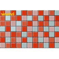 Wholesale Romantic Red Crystal Glass Mosaic Tiles , Glass Mirror Mosaic Tiles For KTV from china suppliers