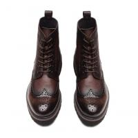 Wholesale Fashion Ankle Genuine Warm Leather Boots , Work Shoes For Men Lace Up Closure Type from china suppliers