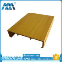 China Factory Hot Sale Green Wood-plastic Composite Indoor Suspended Ceiling Designs 100*25mm on sale