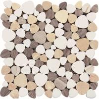 Wholesale Black And White Glass Mosaic Tiles , 3D Triangle Round Marble Mosaic Wall Tile 30x30 from china suppliers