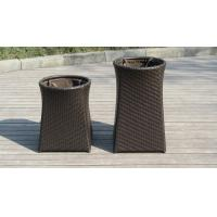 Wholesale Resin Wicker Storage Box , Grey Synthetic Rattan Storage Case from china suppliers