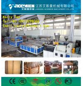 China WPC decking machine on sale