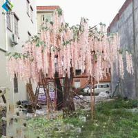 China 4m Height Artificial Flower Tree , Wisteria Silk Hanging Fake Flower Tree on sale