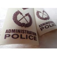 High Density Screen Printed Clothing Labels Police Shoulder Patches for sale