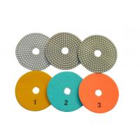 """Buy cheap 4"""" 5"""" Diameter Dry Polishing Pad , 3 Step Polishing Pads For Ceramic from wholesalers"""