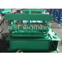 China Hydraulic Roofing Sheet Crimping Roll Forming Machine 0.3-0.8mm Thickness for sale