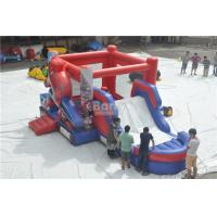 Wholesale Spiderman Bouncy Castle , Round Inflatable Bouncer Combo With Slide from china suppliers