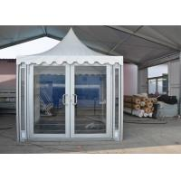 Buy cheap 3 X 3m White PVC Party Pavilion Tent , Outside Gazebo Tent With Glass Wall Windows from wholesalers
