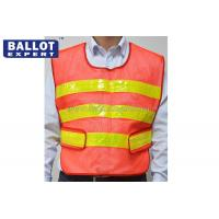 Wholesale Fluorescent Yellow Reflective Vest , 100% Cotton Outdoor Traffic Safety Vest from china suppliers