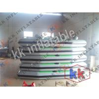 China Grey / Green PVC Inflatable Boat , 4 Seams Stitching Inflatable Floating Boat on sale