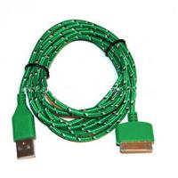 Wholesale Durable 30 Pin To USB Micro Usb Sync Cable 3ft Covered With Green Nylon from china suppliers